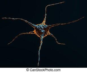 Abstract Illustration Of Neuron