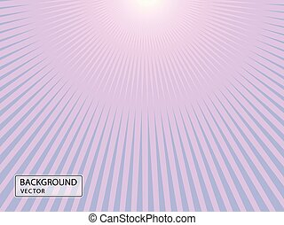 Abstract illustration of sunlight with falling rays. Vector Banner, title page, background.