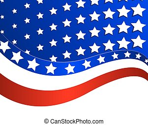 Abstract illustration of the USA fl
