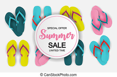 Abstract Illustration Summer Sale Background