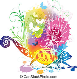 Abstract illustration with a chamel