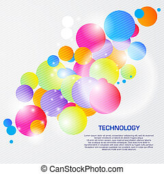 Abstract illustration with space for your business message