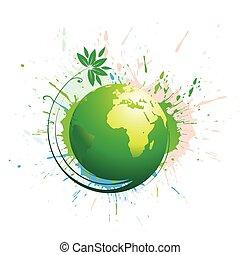 swirl grunge globe