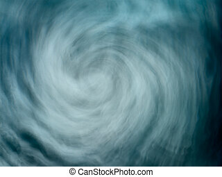 Abstract illustrative stormy blue water maelstrom vortex