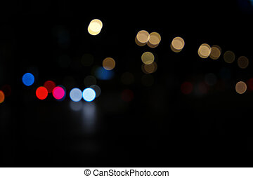 Abstract image bokeh lights in the night city