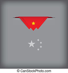 Abstract image China flag