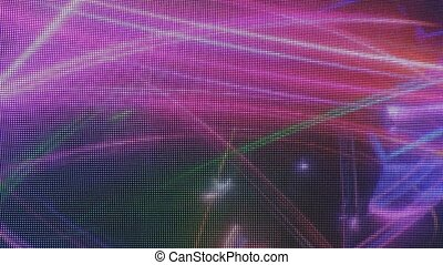 Abstract image created by LED light sources
