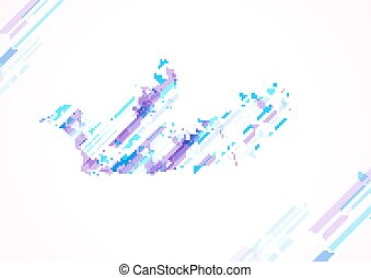 Abstract image of a bird