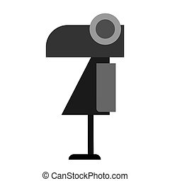 Abstract image of a crow, simple design isolated on a white background