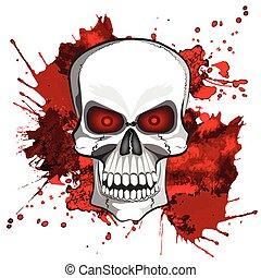 Abstract image of a human skull