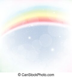 Abstract image of a rainbow
