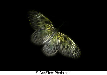 abstract image of a yellow butterfly.