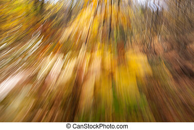 Abstract image of an autumn forest