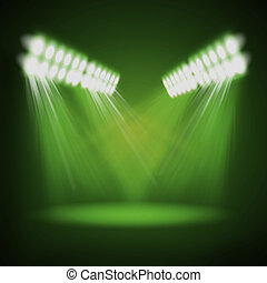 Abstract image of concert lighting against a dark...