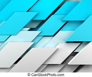 Abstract image of cubes background in blue toned