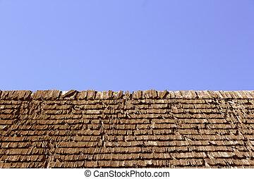 abstract image of shingle roof