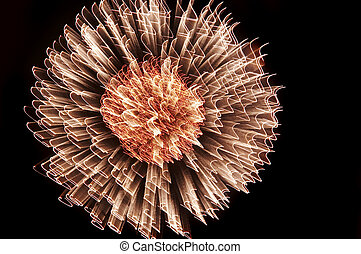 explosion - Abstract image of the explosion - fireworks