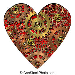 Abstract image of the mechanical heart - gears