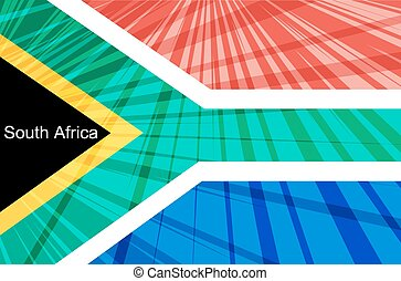 Abstract image of the South African flag