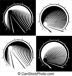 abstract images of tunnel in the mountain