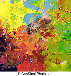 abstract impasto oil paints - abstract oil paint textures - ...