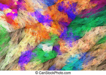 abstract impressionist art work - brush strokes of oil painting on canvas - colorful abstract texture