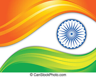 abstract indian flag background