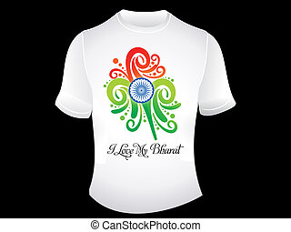 abstract indian love tshirt