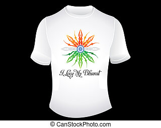 abstract indian patriotic tshirt