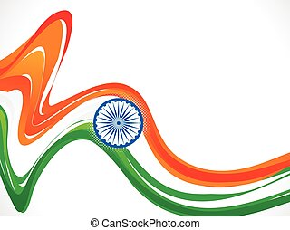abstract indian republic day