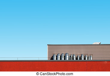 Abstract industrial architecture