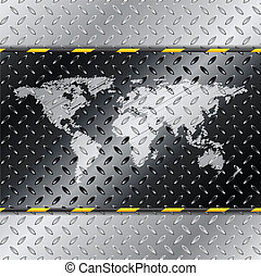 Abstract industrial background with map