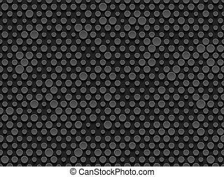 Abstract industrial realistic embossing volume cylinder endless texture, depressed circles background, 3d geometric seamless pattern. Round dot cyber backdrop. Digital futuristic techno vector