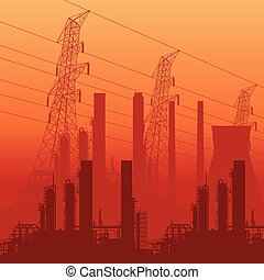 Abstract Industrial Skyline