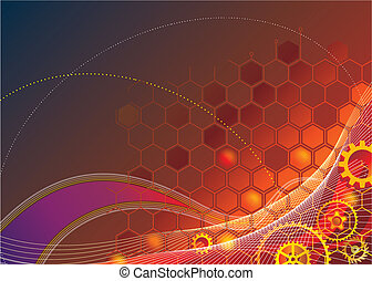 Industrial Technology Background - Abstract Industrial...
