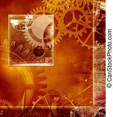 abstract, industriebedrijven, techniek, achtergrond