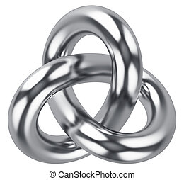 Abstract infinite loop knot shape - Creative abstract 3D...