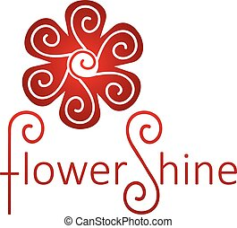 Abstract Infinite loop logo template. Vector flower.