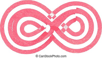 Abstract infinity Symbol made with red marker