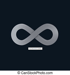 Abstract infinity symbol on Dark Background