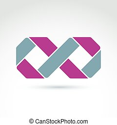 Abstract infinity symbol, vector graphic design element, icon.