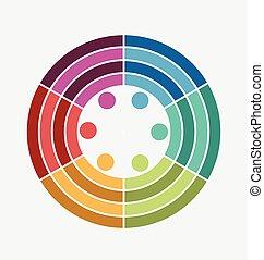 Abstract info graphics logo vector
