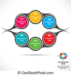 abstract infograpgic design