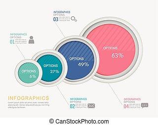 abstract, infographic, cirkel, communie, etiket
