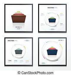 abstract infographic design set 4 in 1