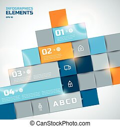 Abstract Infographic Elements