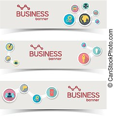 Abstract Infographic Horizontal Banners