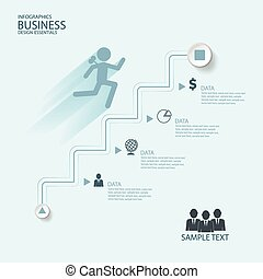 Abstract Infographics business stai