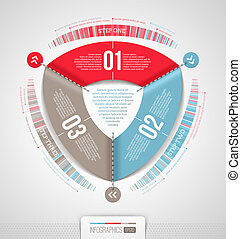 Abstract infographics design with numbered elements - vector...