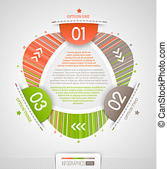 Abstract infographics design with numbered elements - vector illustration